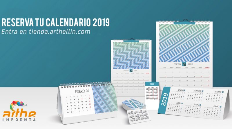 calendarios 2019 pedidos imprenta digital